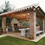 Ideas de barbacoas rústicas para terraza