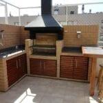 Materiales para barbacoas para una terraza