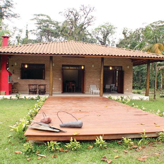 Materiales para casas de campo modernas