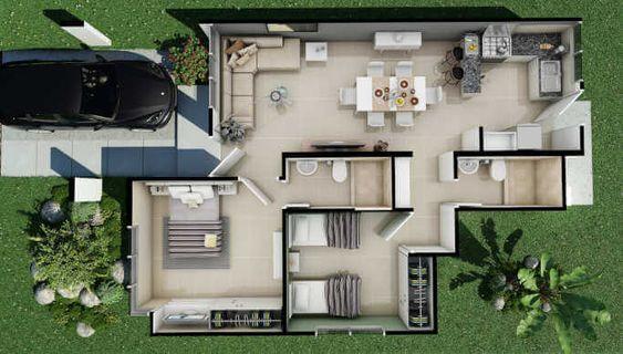 Planos de casas de un piso