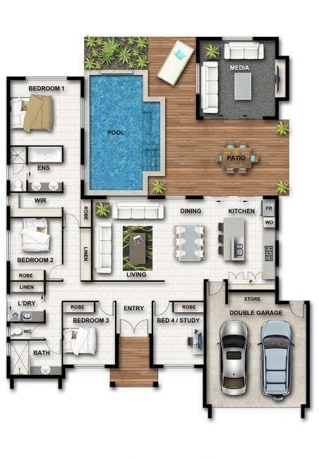 Planos de casas grandes