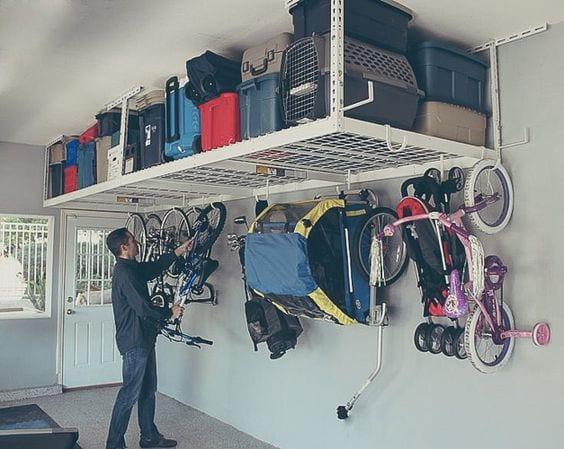 Usa un garaje o trastero para organizar