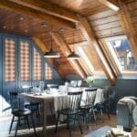 Casas rústicas con techos de madera