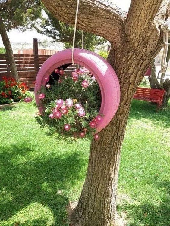 Ideas recicladas para decorar el jardín