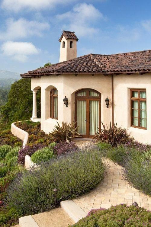 Ideas de casas de campo con techo de teja