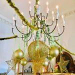 Decoración de navidad verde con dorado