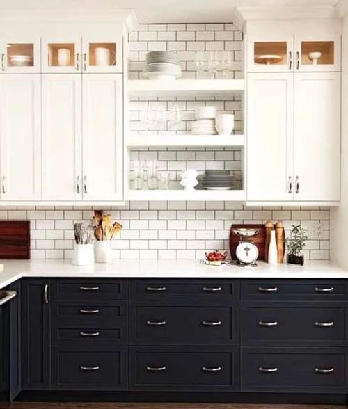 Gabinetes de cocinas en color madera natural