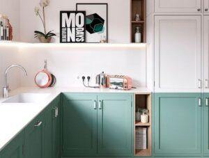 Cocinas en colores claros