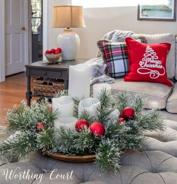 Centros de mesa navideños clásicos