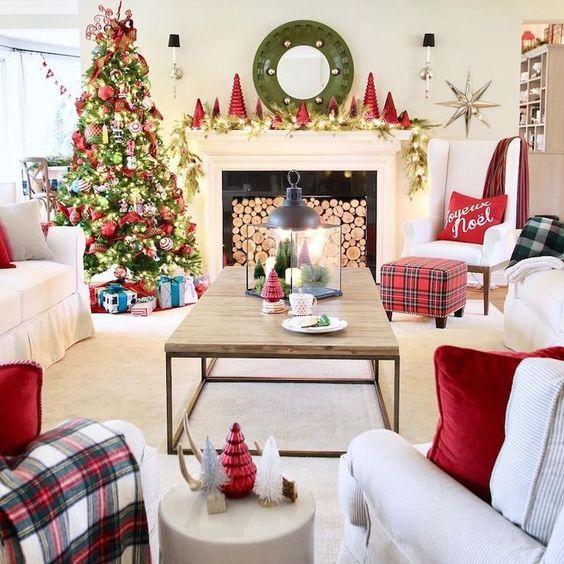 Decoración de Navidad clásica y tradicional