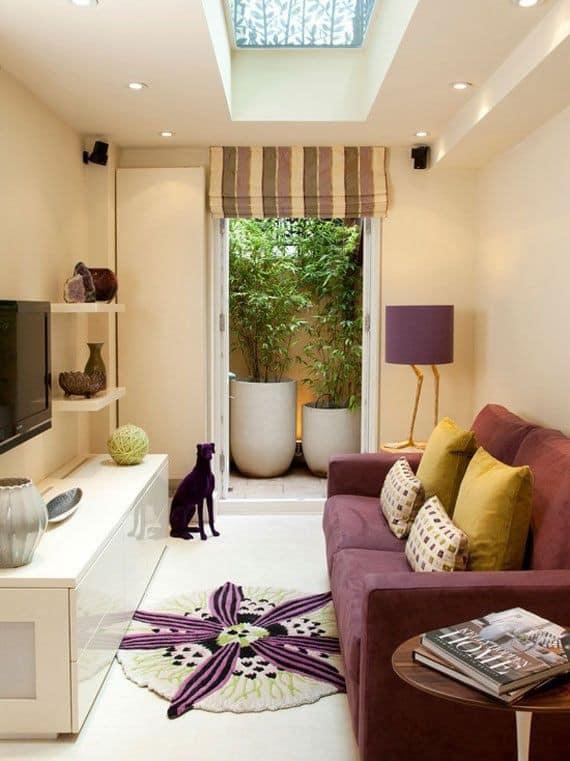 Apóyate en el color para la decoración de salas pequeñas